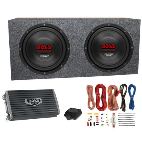 2) Boss CH10DVC 10  3000W Car Subwoofers Subs+Sealed Box Enclosure+Amp  sc 1 st  Walmart & 2) Boss CH10DVC 10