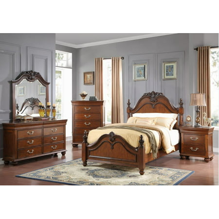 Home Source Queen Bed/Dresser/Mirror/Nightstand/Chest