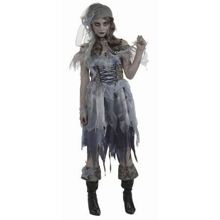 Walking Zombie Costume (Walked the Plank Women's Pirate Zombie)