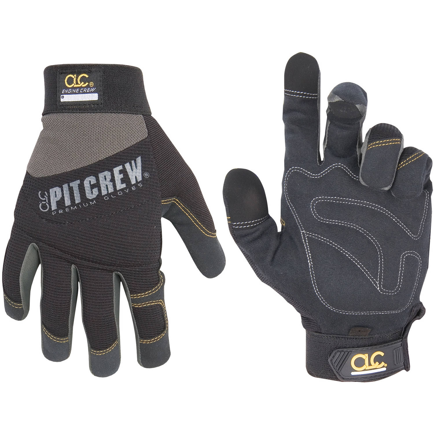 CLC Work Gear 205BL Large Black and Gray Engine Crew Mechanics Gloves by Custom Leathercraft