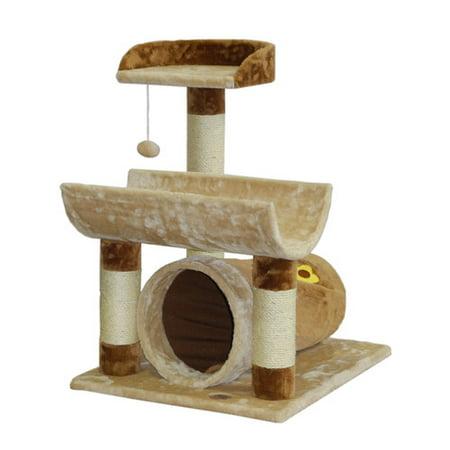 Go Pet Club Cat Tree Furniture 23 X 26 X Beige Brown