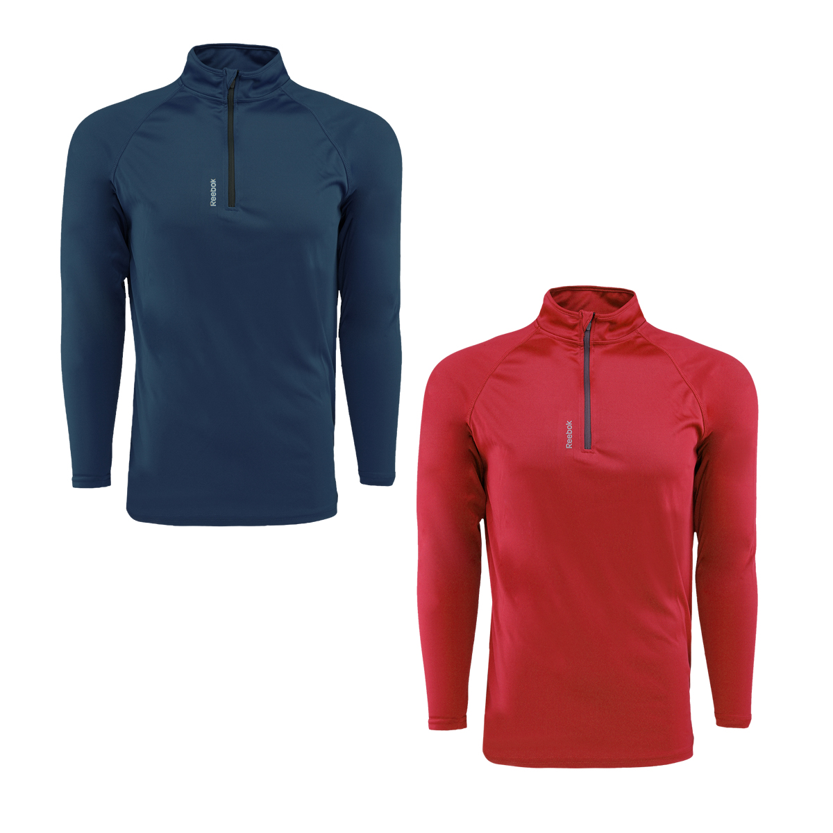 2-Pack Reebok Men's Play Dry 1/4 Zip Jacket