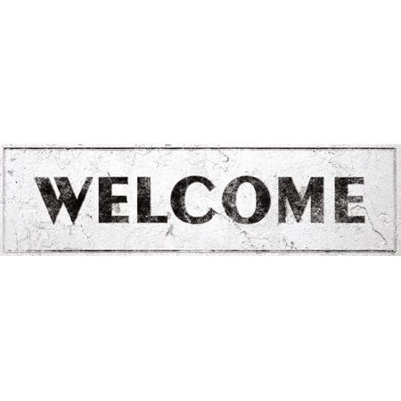 Welcome Sign Rustic Farmhouse Country Kitchen with Vintage Shabby Chic On 5x18 - Shabby Shic