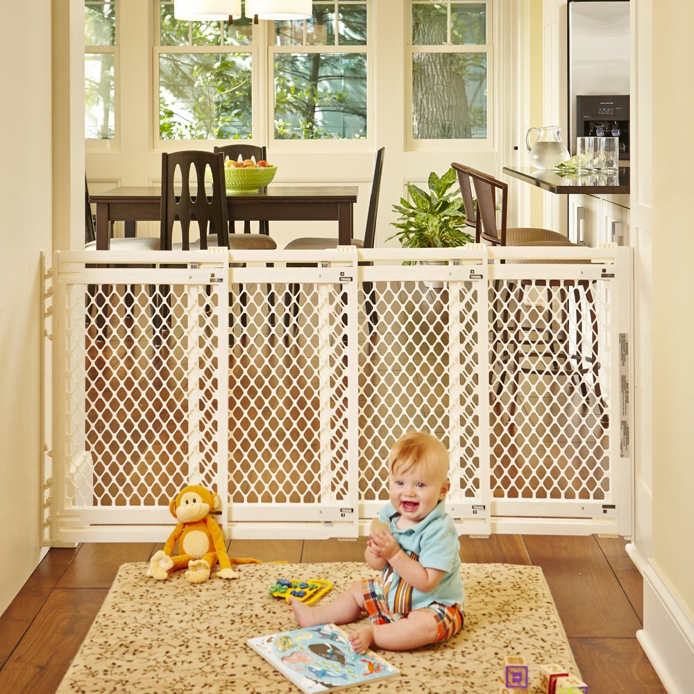 North States Extra Wide Sliding Swing Door Baby Gate 22 62
