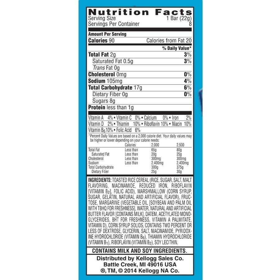 Rice Krispies Cereal Nutrition Facts Besto Blog