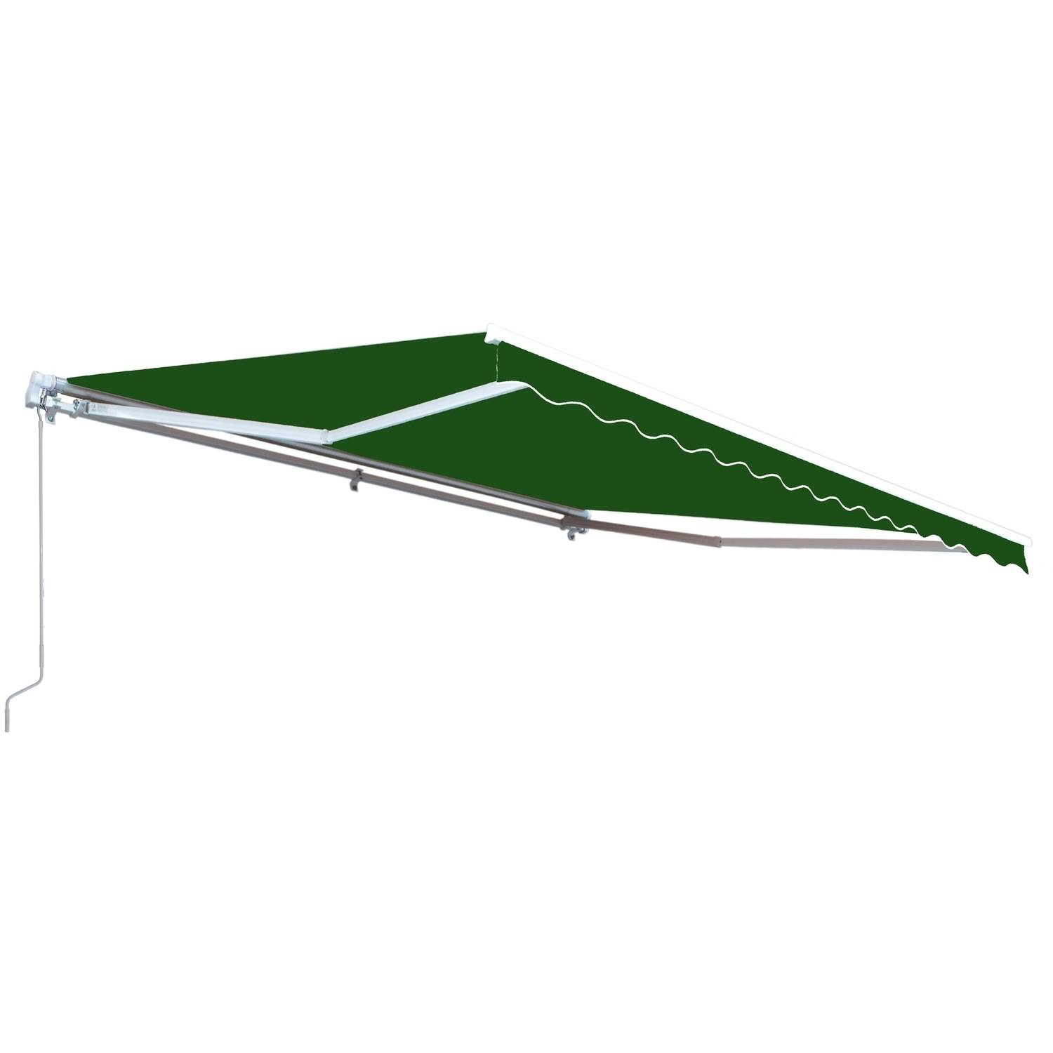 ALEKO Retractable 12' x 10' (3.65m x 3m) Patio Awning, Solid Green Color