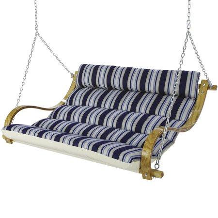 Hatteras Hammocks Deluxe Cushioned Double Swing Hamptons Summer