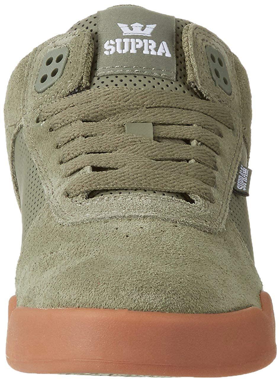 8d487ef6cb84 Supra - Supra Men s Ellington Olive-White Ankle-High Suede Skateboarding  Shoe - 12M - Walmart.com