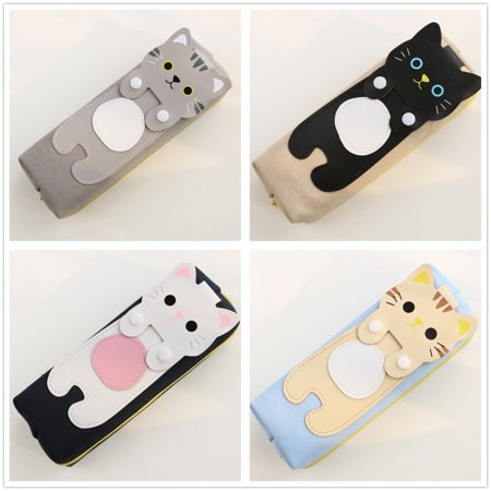 Cute Cat Kitty Pencil Pen Case Cosmetic Bag Purse Zipper Pouch Kawaii - Cute Pencil Case