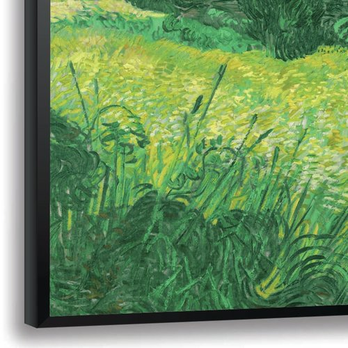 Red Barrel Studio 'Wheat Field' by Vincent Van Gogh Framed Oil Painting Print
