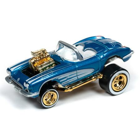 Johnny Lightning 1:64 Street Freaks Ver B 1958 Chevy Corvette Rich Teal