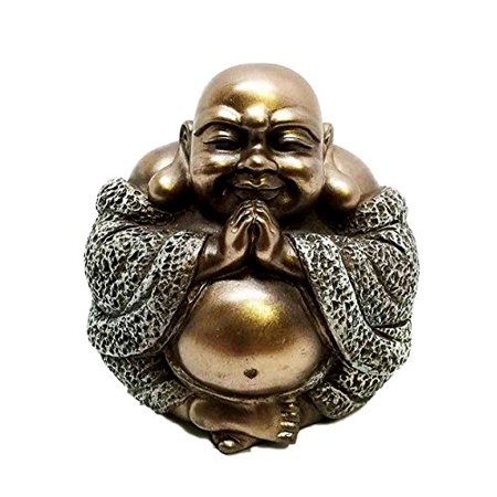 Happy Buddha Blissful Meditation Figurine Amulet Buddhism Eastern Enlightenment ()