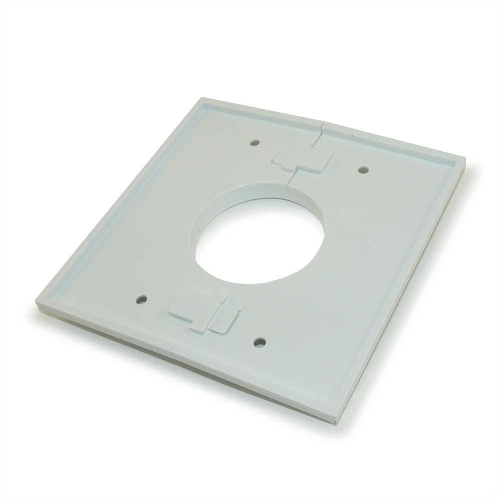 Double-Gang Pass-Thru Wall plate Split-Port Wall plate