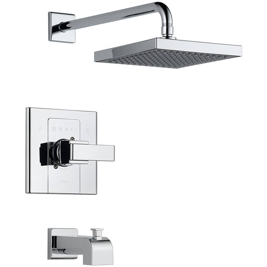Delta T14486-SHQ Arzo Single Function Pressure Balanced Bath and Shower Trim Less Rough-in, Chrome