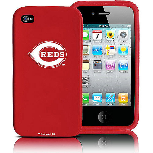 Tribeca Silicone Varsity Jacket Case for iPhone 4, Cincinnati Reds
