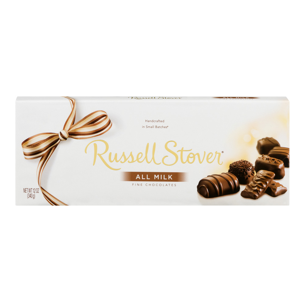 Russell Stover Fine Chocolates All Milk, 12.0 OZ