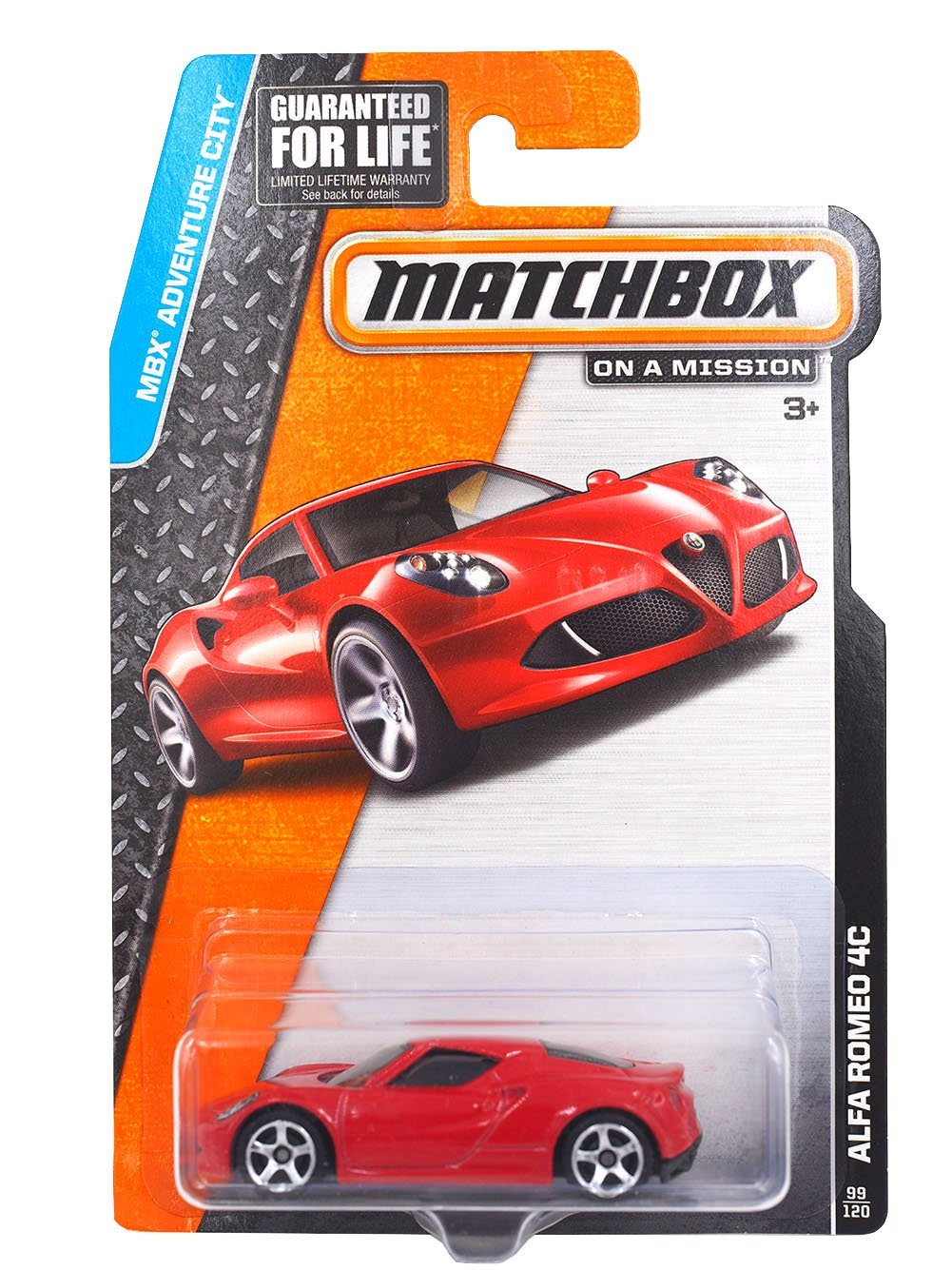 MBX Adventure City Alfa Romeo 4C 99 120, MBX Adventure City By Matchbox Ship from US by