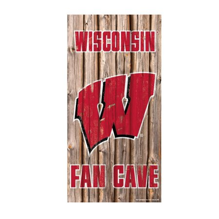 Wisconsin Badgers Fan Cave Wood Sign, Officially Licensed By - Wisconsin Badgers Wood