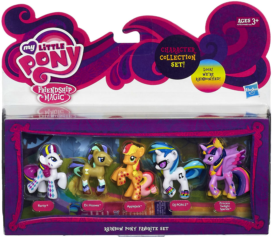 My Little Pony Character Collection Sets Rainbow Pony Favorite Figure Set by