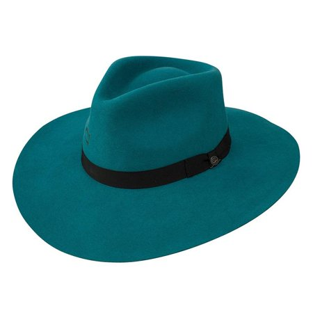 Charlie 1 Horse Highway Teal Felt - Horse Hat