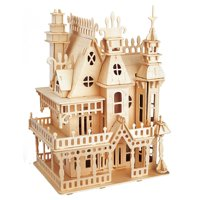 DIY Handcraft Wooden Doll House KitMiniature Victorian Castle Model Jigsaw Puzzle Game Dollhouse Toys For Kids Toy Gift Home Decooration