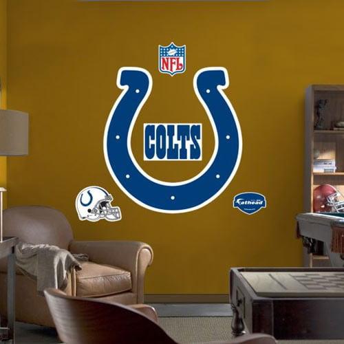 Indianapolis Colts Team Logo Fathead Wall Sticker - No Size