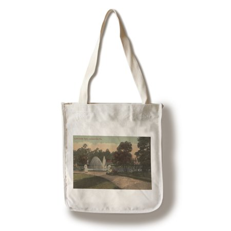 Jacksonville, FL - View of Riverside Park & Fountain (100% Cotton Tote Bag - Reusable)](Party Shop Jacksonville Fl)
