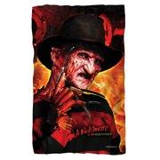 Nightmare On Elm Street Freddy'S Boiler Room Fleece Blanket White 48X80