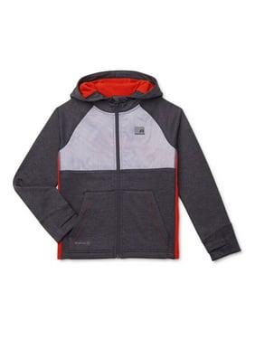 Russell Boys Tech Fleece Full Zip Hooded Athletic Jacket, Sizes 4-18