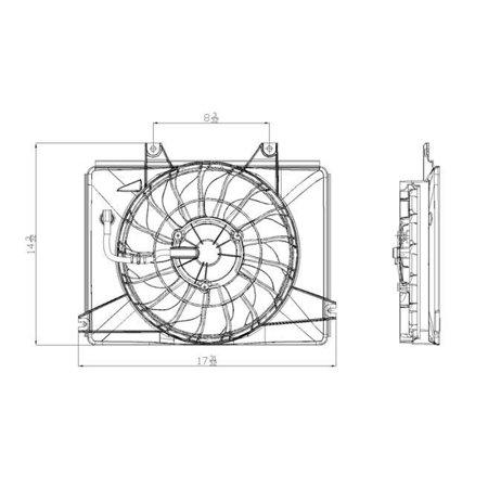 CPP Front Condenser Fan for 2002-2005 Kia Sedona KI3113110