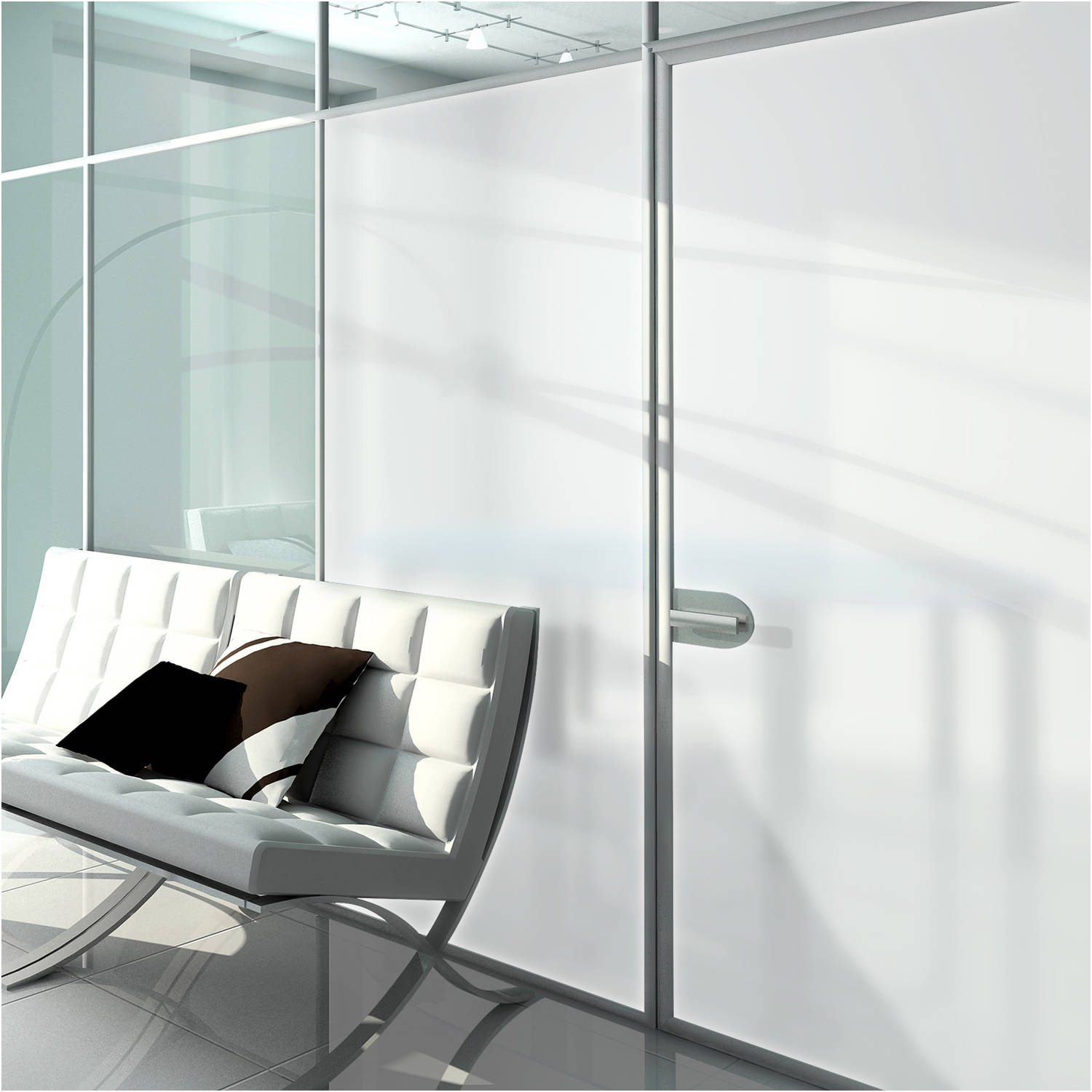 BDF MTWH White Frosted Privacy Window Film 36in X 25ft by BuyDecorativeFilm