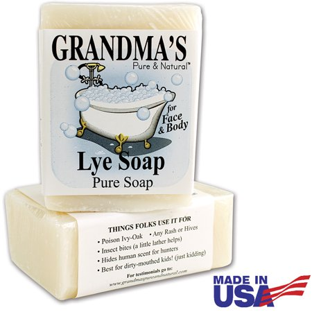 Grandma's Pure Lye Soap For Dry Skin With No Additives (Set of