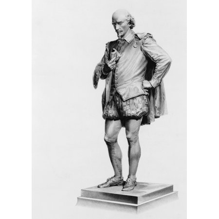 William Shakespeare 1564 To 1616 English Poet And Dramatist After The Statue By John Quincey Adams Ward In Central Park New York City United States Of America