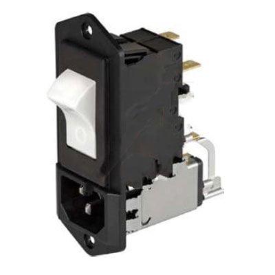 Schurter 5145 0847 511 PEM 6A Filter Breaker IEC C14 2 P 250VAC 5A Wir