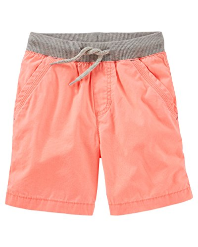 Oshkosh B'gosh Little Boys' Pull-On Poplin Shorts, Orange (4T