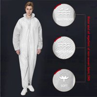 Coverall Chemical Hazmat Isolation Suit Disposable Protective Clothing New