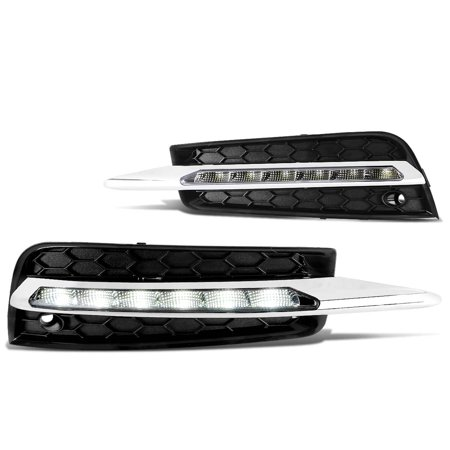 New 2010 Chevy (For 2010 to 2014 Chevy Cruze Pair LED Daytime Running Fog Light / Lamp+Bezel Clear Lens 11 12 13 Left+Right)