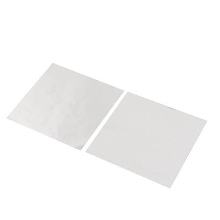 Aluminum Foil Candy Chocolate Wrapper Tinfoil Paper Silver Gray 10 x 10cm 100pcs - image 2 de 3