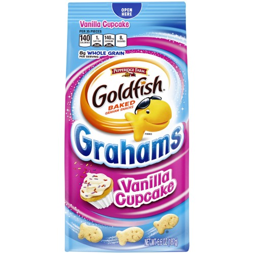 Pepperidge Farm Goldfish Grahams Vanilla Cupcake Crackers (Pack of 2)