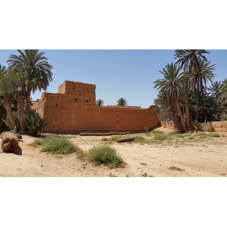Canvas Print Oasis Morocco Travel Desert Guelmin South Stretched Canvas 10 x 14