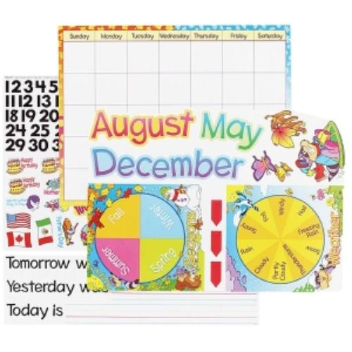 Trend Monthly Calendar Bulletin Board Set - 50 Cutout, 50 Cling Piece - Paper - Assorted, Multicolor (t8302_35)