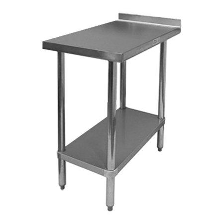 3084 Work Table Backsplash - ACE WT-EB3018 Commercial Work Table with Stainless Steel Top, 1 Galvanized Undershelf, 1-1/2