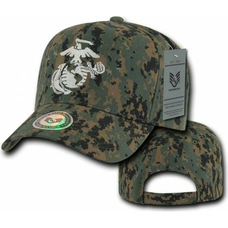 RapDom Marines Logo Back To The Basics Mens Cap [MCU Multi-Terrain Camouflage - - Marines Logo Cap