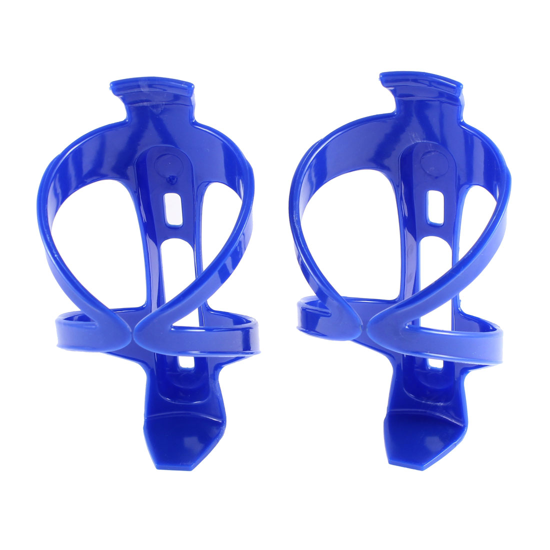 Bicycle Cycling Plastic Water Bottle Rack Holder Cage Black 2 Pcs