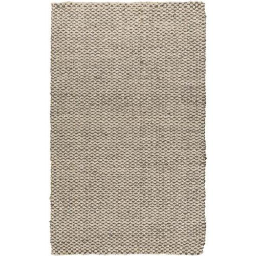 8' x 11' Alluring Burlap Slate Gray and Ivory Hand Woven Jute Area Throw Rug