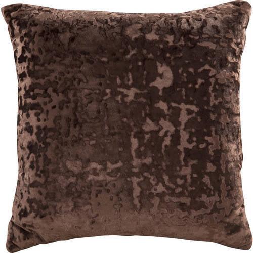 "Mainstays Velvet Decorative Pillow, 18"" x 18"", Grey"