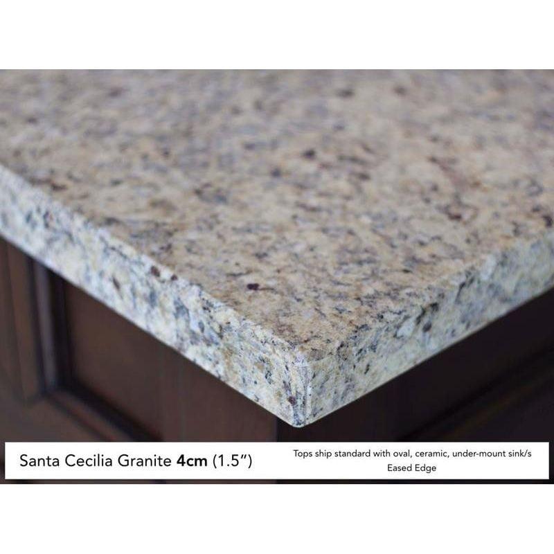James Martin 030-S60D-DSC 2-Vanity Top w/Eased Edge Santa Cecilia Granite