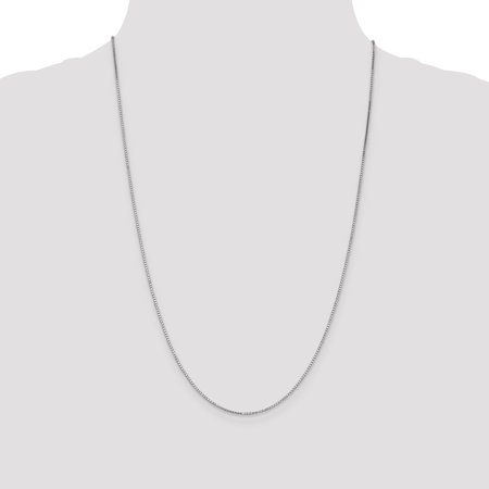 14K White Gold 1.1mm Box Chain 14 Inch - image 1 of 4