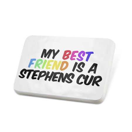 Porcelein Pin My best Friend a Stephens Cur Dog from United States Lapel Badge – (Stephen Lynch Best Friends)