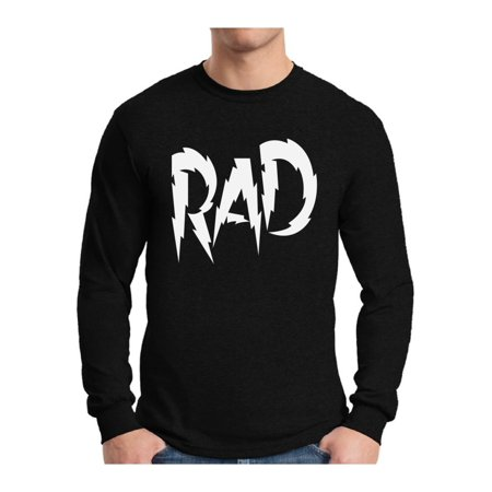 Awkward Styles Men's Rad Dad Graphic Long Sleeve T-shirt Tops White Father's Day Gift for Dad Best Dad (Top 50 Best Breast Ever)